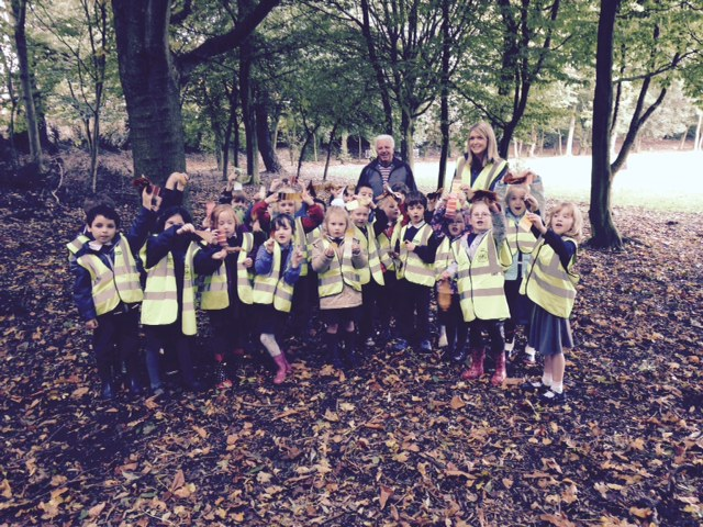 OIur whole class at Forest School