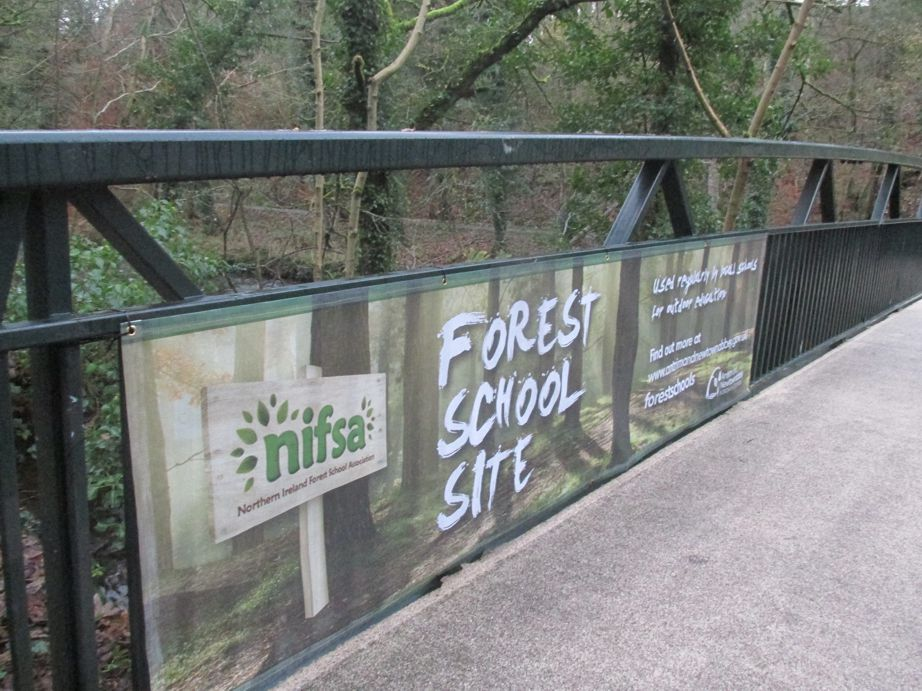 Forest School banner at Sixmilewater
