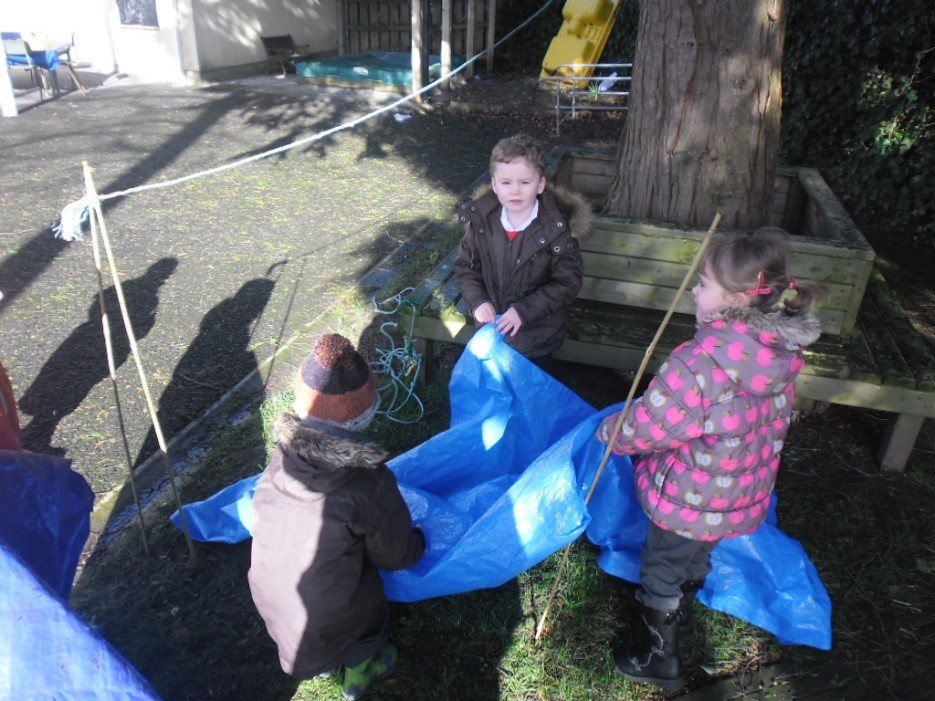 making our tent
