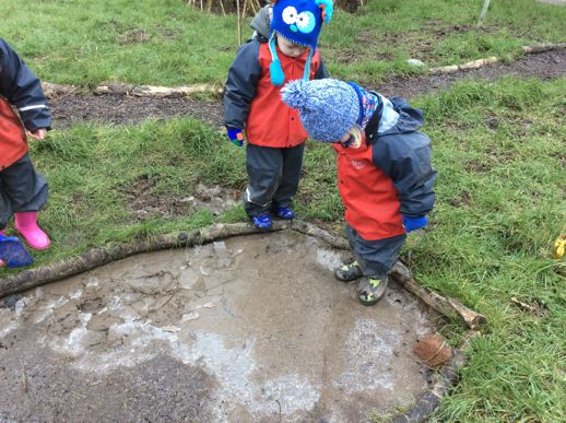 Splashing in the mud